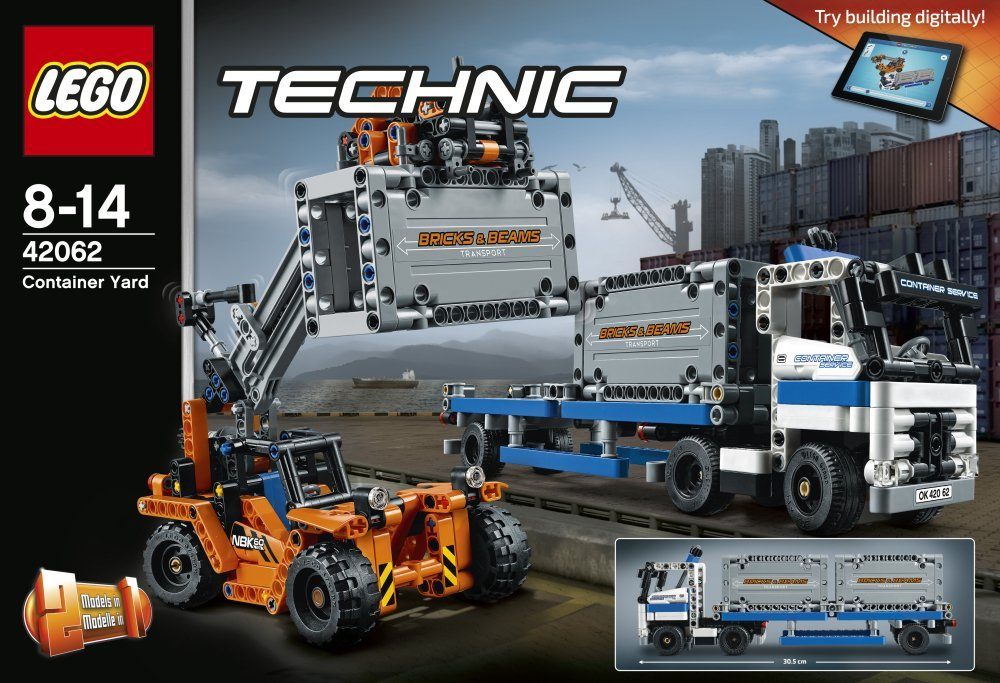 lego technic 42062 container transport testsieger. Black Bedroom Furniture Sets. Home Design Ideas