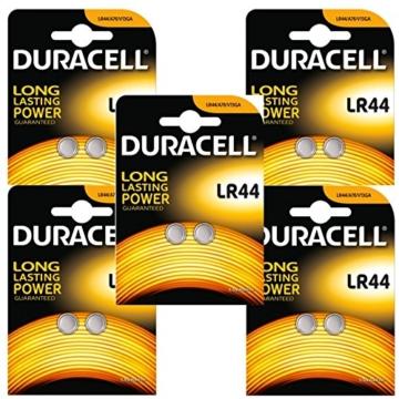 Duracell PX76A LR44 AG13 Knopfzelle 10 Stück