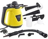 Sichler Haushaltsgeräte Handdampfreiniger: Tragbarer Dampfreiniger mit großem Zubehör-Pack, 1.000 W (Dampfgerät)