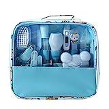 Mentin Baby Pflegeset | 13-teiliges Baby Pflege Produkte | Baby Pflegeset Erstausstattung | Nagel und Nasen Pflege mit Tasche mit Handtasche