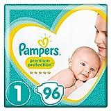 Pampers Premium Protection New Baby Windeln, Gr. 1, 2-5kg, Halbmonatsbox, 1er Pack (1 x 96 Stück)