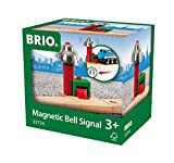 BRIO World 33754 Magnetisches Glockensignal – Eisenbahnzubehör Holzeisenbahn – Kleinkinderspielzeug empfohlen für Kinder ab 3 Jahren