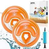 AGPTEK Kinder Schwimmflügel für Anfänger, PVC Schwimmhilfe für Kleinkinder und Babys, Armumfang 21-23cm, empfohlenes Gewicht 6-20kg, Orange