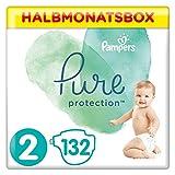 Pampers Pure Protection Windeln, Größe 2, 132 Windeln, 4-8 kg, Halbmonatsbox