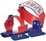Nijdam Kinder Gleitschuhe verstellbar, Rot/Blau, 24-34, 1018426