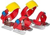 Nijdam Kinder Gleitschuh verstellbare, Rot/Blau/Gelb, 24-34