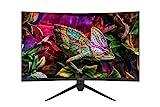 Odys XP32 80,01cm (31,5') WQHD Curved Monitor (2560x1440 Pixel, 250 Lumen, 165Hz, 1ms Reaktionszeit, AMD FreeSync, NVIDIA G-Sync kompatibel, Blaulicht Reduktion, HDMI 2.0, Display Port, 3,5mm) Schwarz