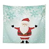 Weihnachten Serie Weihnachtsmann Muster Tapisserie Tv Hintergrund Wand Landschaft Tapisserie Polyester Lanyard 100X150 8