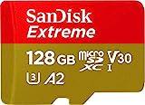 SanDisk Extreme 128 GB microSDXC-Speicherkarte und SD-Adapter mit App Performance A2 und Rescue Pro Deluxe, bis zu 160/90 MB / s, Klasse 10, UHH-I, U3, V30