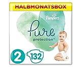 Pampers Größe 2 Pure Protection Baby Windeln, 132 Stück, HALBMONATSBOX, Mit Premium-Baumwolle Und Pflanzenbasierten Materialien (4-8 kg)