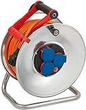 Brennenstuhl Garant S IP44 Kabeltrommel (40m Kabel in orange, Kabeltrommel Outdoor mit Trommelkörper aus Stahlblech, für den Einsatz im Außenbereich, Made in Germany)