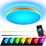 Wayrank LED Deckenleuchte 36W, Wifi Lampen Deckenlampen mit Fernbedienung, RGB Deckenlampe für Kinderzimmer Wohnzimmer Schlafzimmer