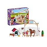 Schleich 42458 Horse Club Spielset - Horse Club Hannahs Gastpferde mit Hündin Ruby, Spielzeug ab 5 Jahren