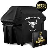LAVUR ® Grillabdeckung by Buffalo BBQ - Abdeckplane Grill wasserdicht - ganzjährig wetterfest - universelle Größe - kinderleichtes Anbringen - inklusive E-Book…