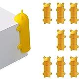 DMFSHI Kantenschutz, 8 PCS Eckenschutz, Lange Schneidbare Eckenschutz-Ecke, Süßer Bärensilikon-Klebetisch-Eckkantenschutz für die Sicherheit von Babys und Kindern