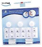 roynoy | 12+3 Set | Kindersicherung Schubladen und Schrank | Magnetische Kindersicherung unsichtbar | Baby Schubladensicherung ohne Bohren