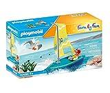 PLAYMOBIL Family Fun 70438 Segeljolle, Schwimmfähig, Ab 4 Jahren