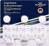 Magnetische Kindersicherung Schrank Hoffenbach® | 12+3 | Unsichtbare Schranksicherung 3M zum kleben | Schubladensicherung für Baby und Kinder |100% Sicherheit