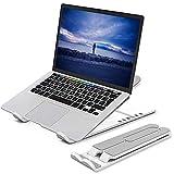 cshare Laptop Ständer, 6 Stufen der Höhenverstellung Notebook Ständer,Tragbarer Multi-Winkel Einstellbar Faltbar Rutschfester Halterung für Tablet iPad,Dell XPS,Samsung,Phones von 7-17 Zoll,ABS