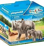 PLAYMOBIL 70357 Nashorn mit Baby, ab 4 Jahren