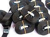 Timtina 8 Stück 3 Meter Spanngurte Zurrgurte schwarz mit Klemmschloss Schnellspannung 180 dan (8)