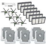 Lemige 18 Stück Ersatzteile für iRobot Roomba S9 (9150) s9+ s9 Plus (9550) s Serie Wi-Fi Connected Roboter Staubsauger (6 Filter + 6 Seitenbürsten + 6 Beutel)