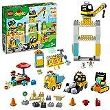 LEGO 10933 DUPLO Große Baustelle mit Licht und Ton, Spielfahrzeuge mit Push und Go Motor für Kinder im Alter von 2–5 Jahren