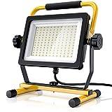 Brandson - 100W LED Baustrahler 144 SMD LEDs – Arbeitsleuchte – Bauscheinwerfer – Baulampe - Tragegriff 6000K – 10000 Lumen – 4 m Stromkabel – Metallgehäuse – IP65