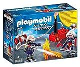 PLAYMOBIL City Action 9468 Feuerwehrmänner mit Löschpumpe, Ab 5 Jahren