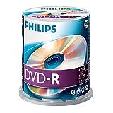 Philips DVD-R Rohlinge (4.7 GB Data/ 120 Minuten Video, 16x High Speed Aufnahme, 100er Spindel)