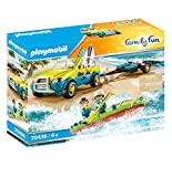 PLAYMOBIL Family Fun 70436 Strandauto mit Kanuanhänger, Ab 4 Jahren