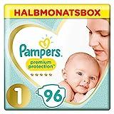 Pampers Premium Protection Windeln, Gr. 1, Halbmonatsbox (1 x 96 Windeln)