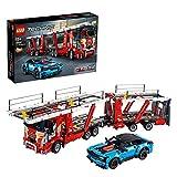 Der rote Autotransporter mit 2 Decks - Lego Bausatz 42098