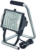 Brennenstuhl Halogenstrahler / Flutlicht Halogen ideal als mobiler Baustrahler (Außenstrahler IP44 geprüft, 1,5m Kabellänge, 400 Watt) schwarz