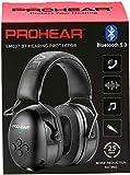 PROHEAR 037 Bluetooth 5.0 Gehörshutz Kopfhörer mit Eingebautem Mikrofon und Lärmreduzierung für Arbeiten & Vergnügen, SNR 30dB -Schwarz