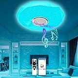 LED Deckenleuchte Farbwechsel, T-SUN 36W Ø30CM Deckenlampe dimmbar mit Bluetooth Lautsprecher Fernbedienung und APP-Steuerung, Sternenhimmel RGB Deckenleuchten für Schlafzimmer Kinderzimmer Wohnzimmer