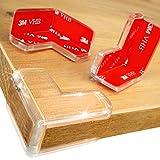DEASANA® Eckenschutz - Extra große Abdeckung für maximalen Schutz & Kindersicherung - Transparenter Kantenschutz Baby mit 3M-VHB-Bi-Kleber für stärkste Haftung - Extra dick & doppelt - 14/28-Set
