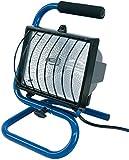 Brennenstuhl Halogenstrahler / Flutlicht Halogen ideal als mobiler Baustrahler (Strahler mit 1,5m Kabellänge, 400 Watt) blau