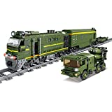 IIKA Adventskalender Zug Track Set DIY Baustein Modell Lokomotive Zug Spielzeug mit Licht, 1174+Pcs Kompatibel mit Lego Technic