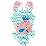 Gogokids Baby Mädchen Einteiliger Badeanzug Bademode - Kleinkind Schwimmbekleidung Rüschen Strandkleidung Kinder Badebekleidung 1-6 Jahre