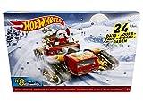Hot Wheels DXH60 Adventskalender, inklusiv 8 Fahrzeuge
