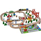 Woodtoys Holzeisenbahn (Holz 100 Teile)
