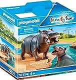 PLAYMOBIL 70354 Flußpferd mit Baby, ab 4 Jahren