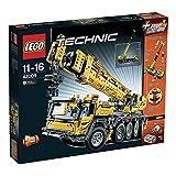 Der gelbe mobile Lego Technic Schwerlastkran 42009