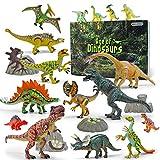 GizmoVine Dinosaurier Spielzeug 20 Stücke 13-23cm Beweglich Dinosaurier Einschließlich Tyrannosaurus Rex, Triceratops Pädagogisches Baby Spielzeug Tiere Spielzeug Geschenke für Kinder Junge Geburtstag