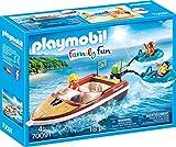 PLAYMOBIL Family Fun 70091 Sportboot mit Fun-Reifen, Ab 4 Jahren