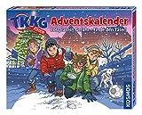 KOSMOS 630539 - TKKG Junior Adventskalender, Bolzplatz in Gefahr - Finde den Täter! 24 Gimmicks für deine Detektiv-Ausrüstung, Krimi zum Miträtseln, Spielzeug-Adventskalender ab 7 Jahre, Fußball-Thema