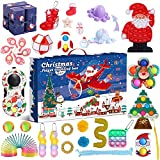 QINGXIN Günstige Adventskalender Spielzeug für Kinder, Fidget Toy Box, Weihnachten Adventskalender Fidget Toy Pack, sensorisches Squeeze Fidget Toy Set für Xmas Party Favor (G Fidget Toys)