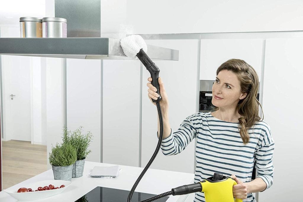 Mit einem Handgerät oder Bodengerät mit Schlauch und Handstücl lässt es sich einfacher reinigen