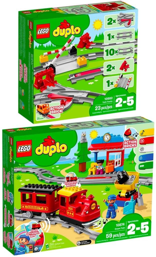 Lego Duplo empfohlen ab 2 Jahren zum Beispiel die Eisenbahn
